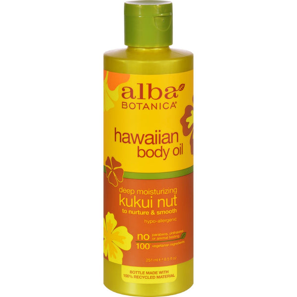 Alba Botanica Hawaiian Body Oil Kukui Nut - 8.5 fl oz - {shop_name}