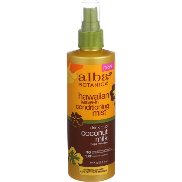 Alba Botanica Leave In Conditioning Mist - Hawaiian - Drink It Up Coconut Milk - 8 oz - {shop_name}