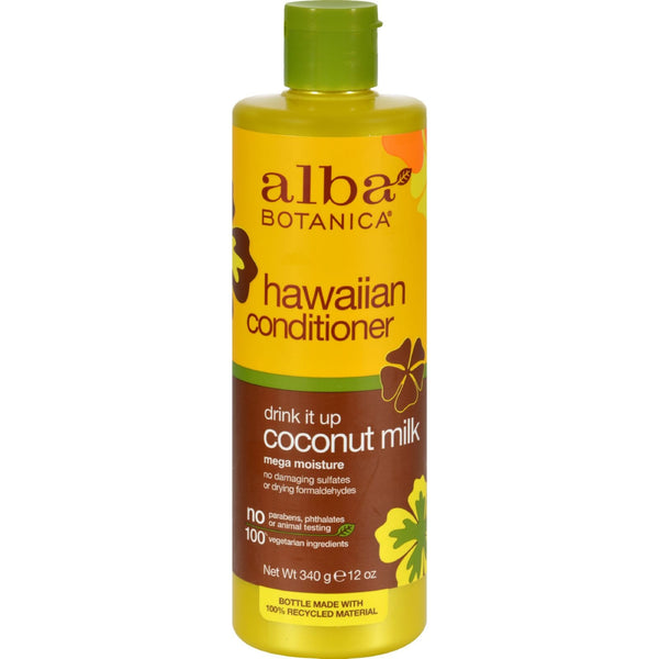 Alba Botanica Hawaiian Hair Conditioner Coconut Milk - 12 fl oz - {shop_name}