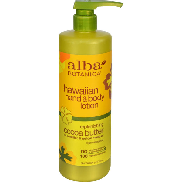 Alba Botanica Hawaiian Hand and Body Lotion Cocoa Butter - 24 fl oz - {shop_name}