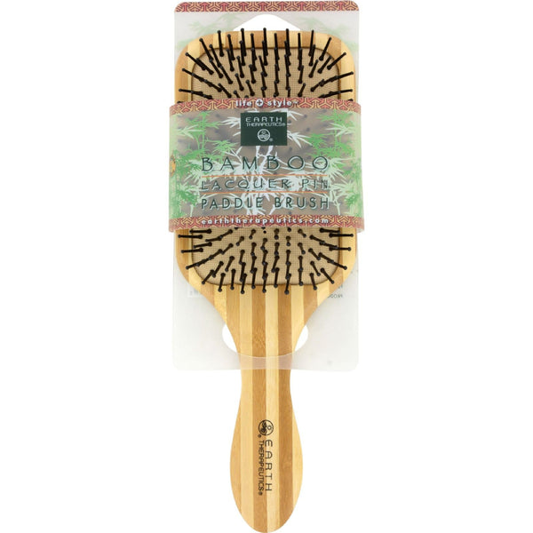 Earth Therapeutics Large Bamboo Lacquer Pin Paddle Brush - 1 Brush - {shop_name}