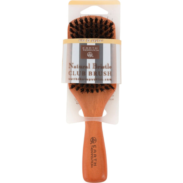 Earth Therapeutics Natural Bristle Club Brush - 1 Brush - {shop_name}