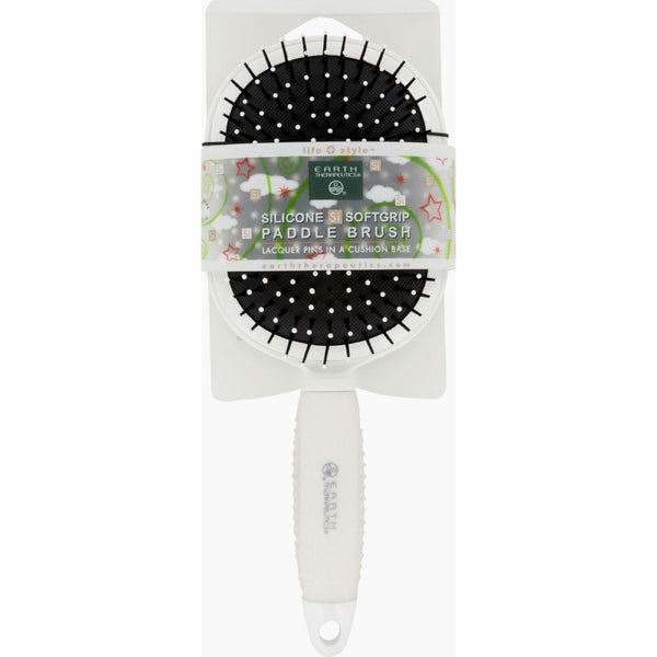 Earth Therapeutics Hair Brush - Paddle - Silicon - White - 1 Count - {shop_name}