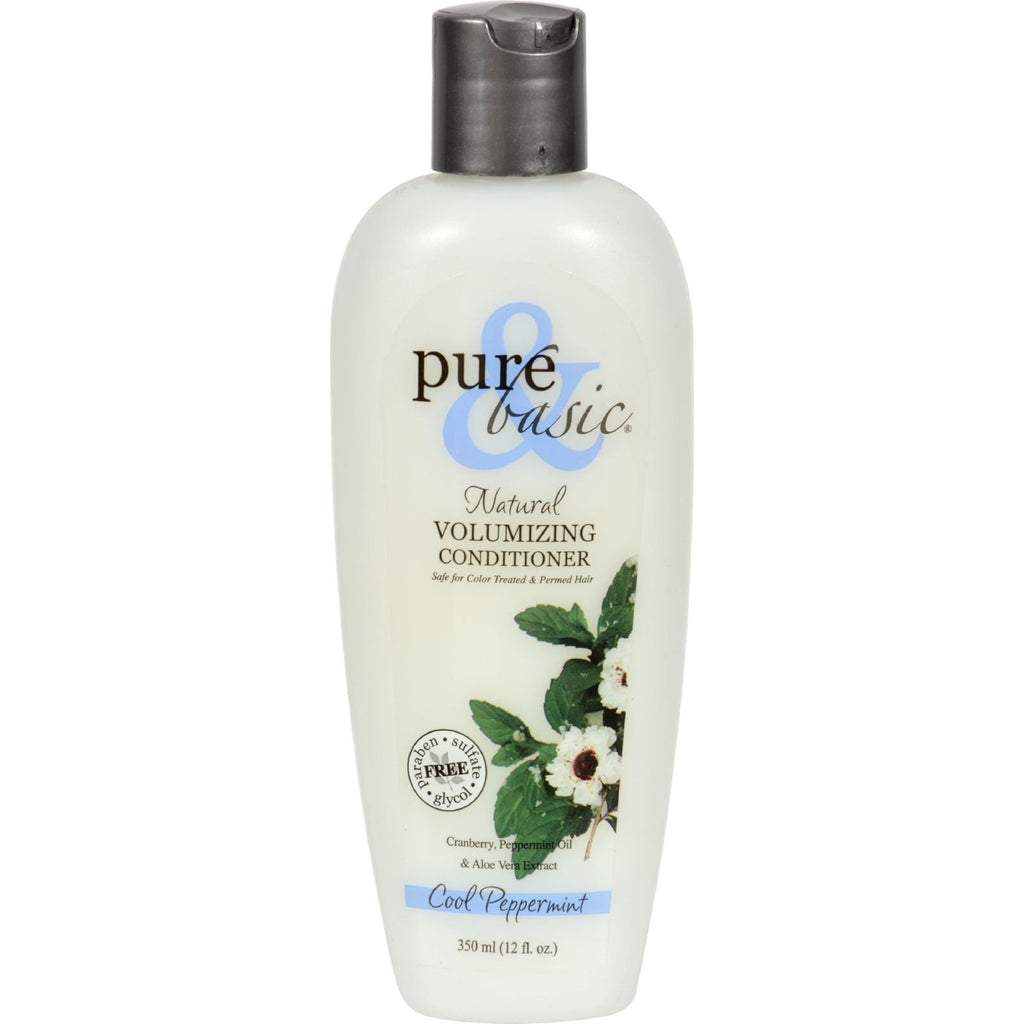Pure and Basic Natural Volumizing Conditioner Cool Peppermint - 12 fl oz - {shop_name}
