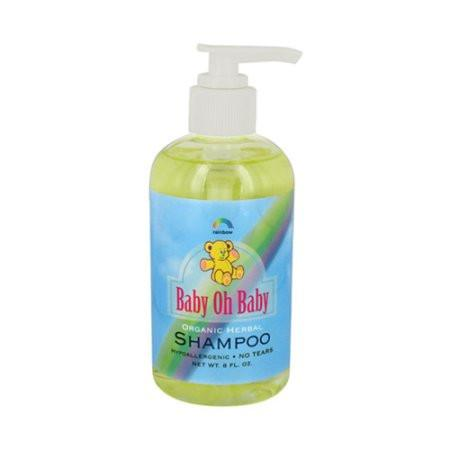 Rainbow Research Baby Oh Baby Organic Herbal Shampoo - 8 fl oz -Baby Bath & Shampoo- Allergy Free Me