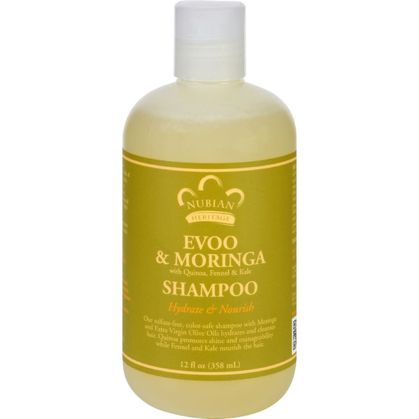 Nubian Heritage Shampoo - EVOO and Moringa - Repair and Extend - 12 oz - {shop_name}