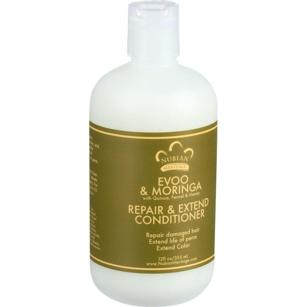 Nubian Heritage Conditioner - EVOO and Moringa - Repair and Extend - 12 oz - {shop_name}