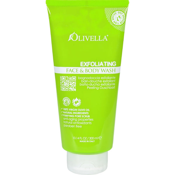 Olivella Face and Body Wash - Exfoliating - 10.14 fl oz -Facial Cleanser- Allergy Free Me
