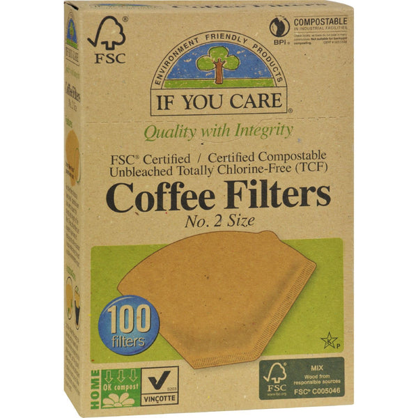 If You Care #2 Cone Coffee Filters - Brown - 100 Count - {shop_name}