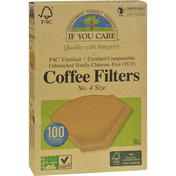 If You Care #4 Cone Coffee Filters - Brown - 100 Count - {shop_name}