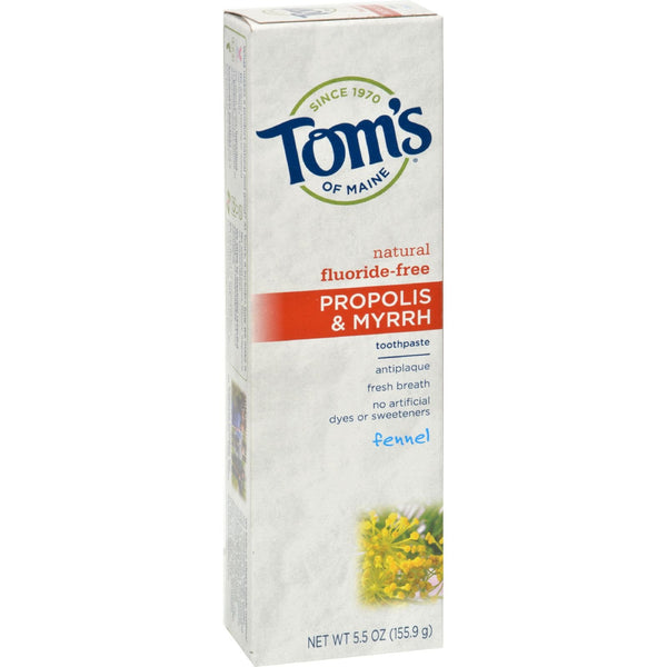 Tom's of Maine Propolis and Myrrh Toothpaste Fennel - 5.5 oz - Case of 6 - {shop_name}