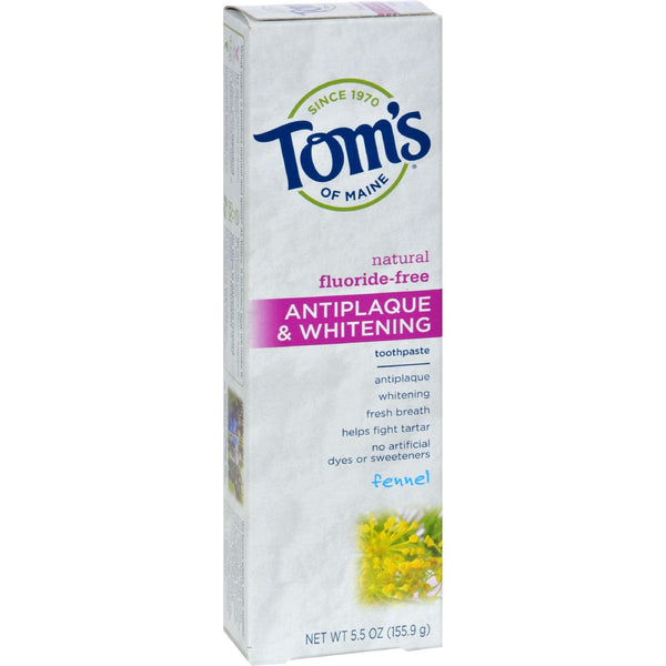 Tom's of Maine Antiplaque and Whitening Toothpaste Fennel - 5.5 oz - Case of 6 - {shop_name}