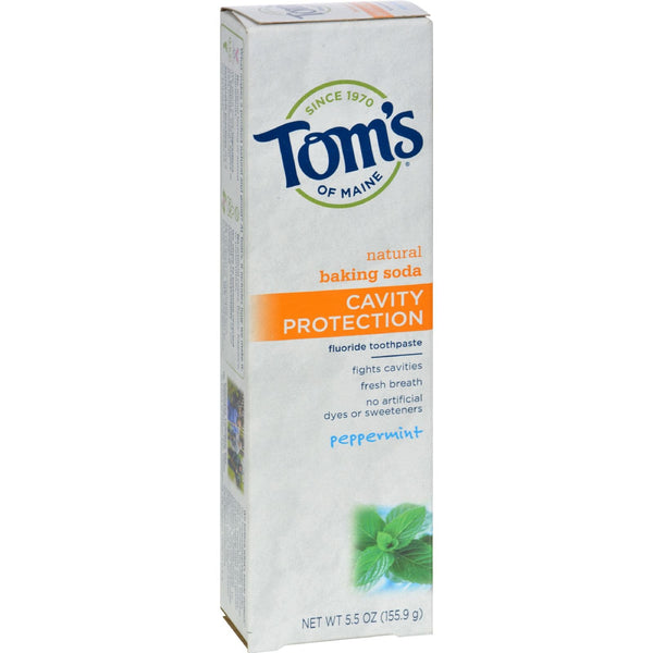 Tom's of Maine Cavity Protection Toothpaste Peppermint - 5.5 oz - Case of 6 - {shop_name}