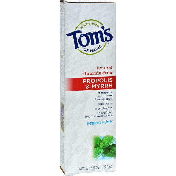 Tom's of Maine Propolis and Myrrh Toothpaste Peppermint - 5.5 oz - Case of 6 - {shop_name}