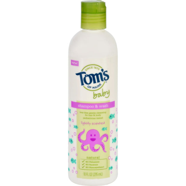 Toms of Maine Shampoo and Body Wash - Baby - Light Scent - 10 oz -Baby Bath & Shampoo- Allergy Free Me