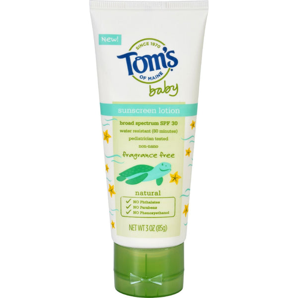 Toms of Maine Sunscreen - Baby - Fragrance Free - 3 oz - Case of 6 - {shop_name}
