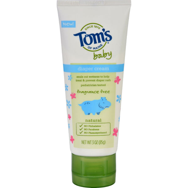 Toms of Maine Diaper Cream - Baby - Fragrance Free - 3 oz - Case of 6 - {shop_name}