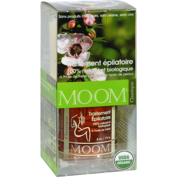 Moom Organic Hair Removal Kit with Tea Tree Classic - 1 Kit -Wax Bleach & Depilatory- Allergy Free Me