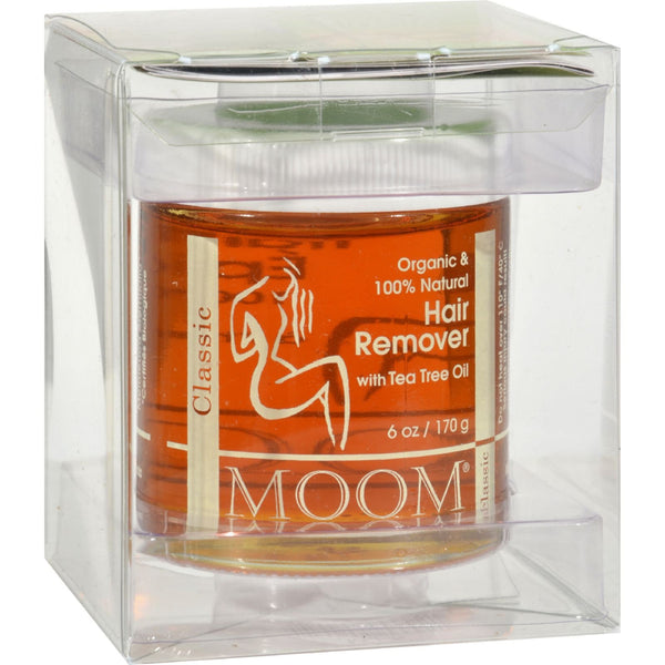 Moom Organic Hair Remover With Tea Tree Oil - 6 fl oz -Wax Bleach & Depilatory- Allergy Free Me
