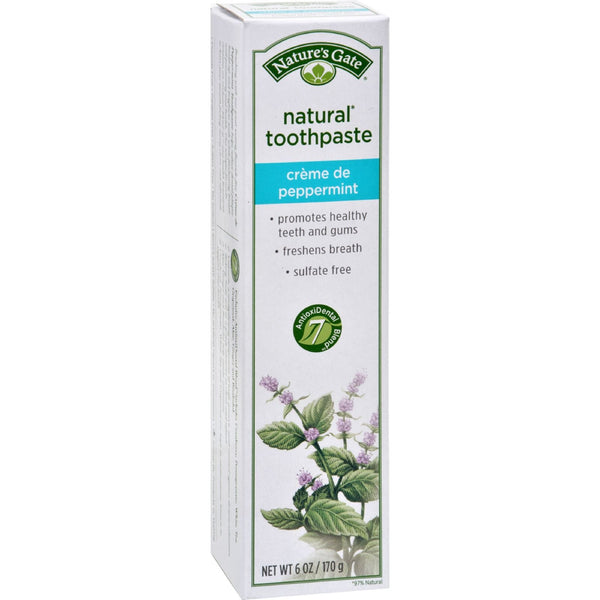 Nature's Gate Natural Toothpaste Creme De Peppermint - 6 oz - Case of 6 - {shop_name}