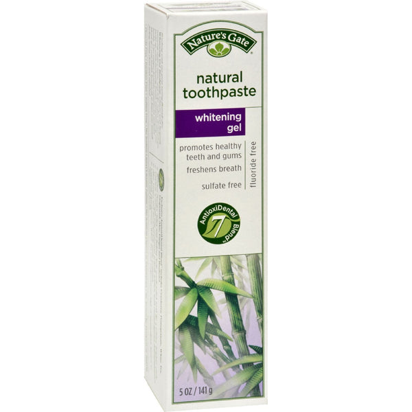Nature's Gate Natural Toothpaste Gel Whitening - 5 oz - Case of 6 - {shop_name}