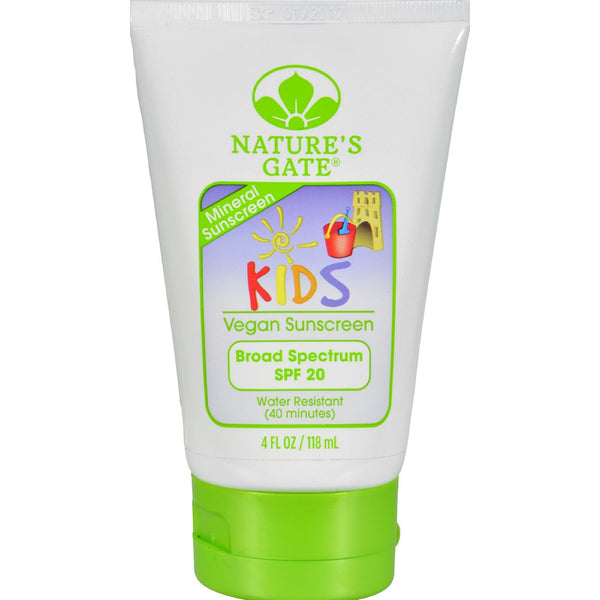 Nature's Gate Mineral Kids Block SPF 20 Fragrance Free - 4 fl oz - {shop_name}