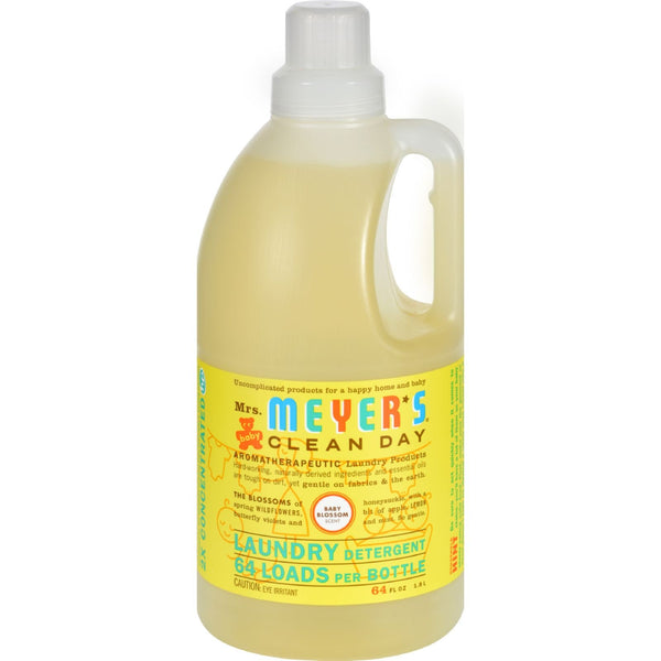 Mrs. Meyer's 2X Laundry Detergent - Baby Blossom - Case of 6 - 64 oz -Nursery Cleaning- Allergy Free Me