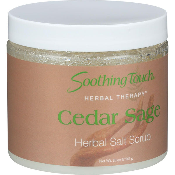 Soothing Touch Herbal Salt Scrub - Cedar Sage - 20 oz - {shop_name}