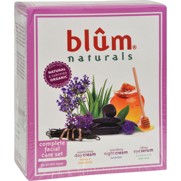 Blum Naturals Complete Facial Care Set - 3 piece Set -Facial Moisturizer- Allergy Free Me