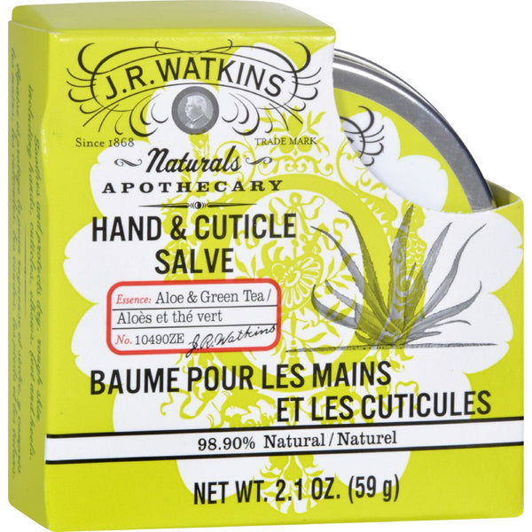 J.R. Watkins Hand and Cuticle Salve Aloe and Green Tea - 2.1 oz -Hand & Foot Care- Allergy Free Me