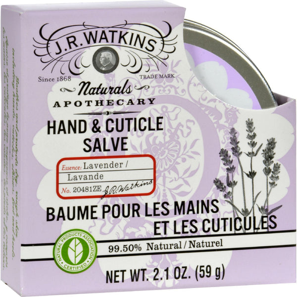 J.R. Watkins Hand and Cuticle Salve Lavender - 2.1 oz -Hand & Foot Care- Allergy Free Me