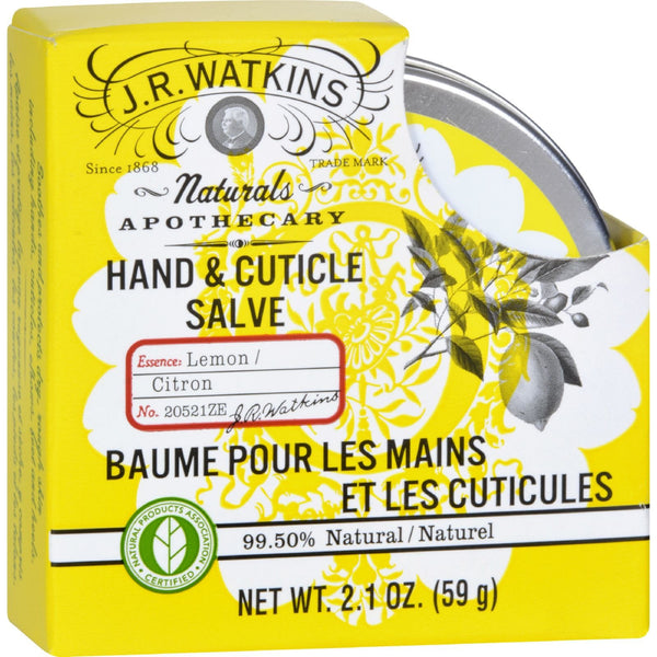 J.R. Watkins Hand and Cuticle Salve - Lemon - 2.1 oz -Hand & Foot Care- Allergy Free Me