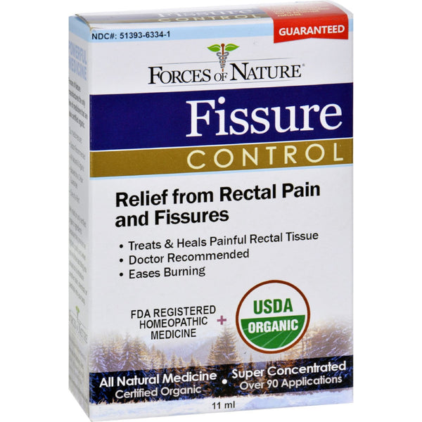 Forces of Nature Organic Fissure Control - 11 ml -Medical- Allergy Free Me