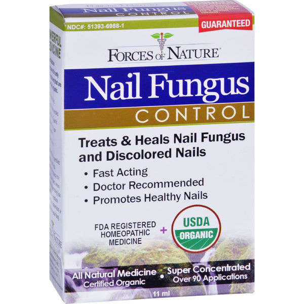 Forces of Nature Organic Nail Fungus Control - 11 ml -Nails- Allergy Free Me