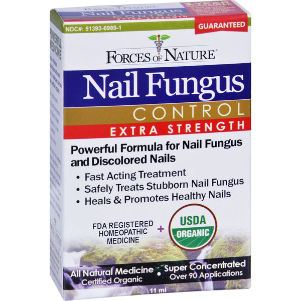 Forces of Nature Organic Nail Fungus Control - Extra Strength - 11 ml -Nails- Allergy Free Me