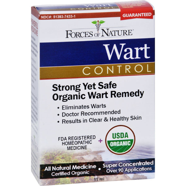 Forces of Nature Organic Wart Control - 11 ml -Skin Condition- Allergy Free Me