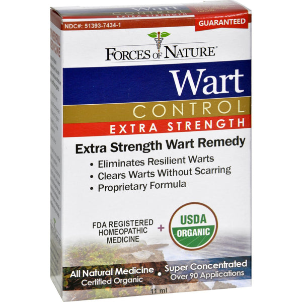 Forces of Nature Organic Wart Control - Extra Strength - 11 ml -Skin Condition- Allergy Free Me