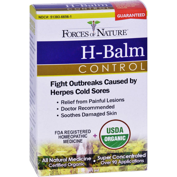 Forces of Nature Organic H-Balm Control - 11 ml -Medical- Allergy Free Me