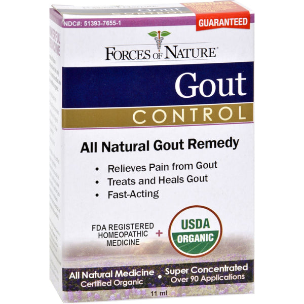 Forces of Nature Organic Gout Control - 11 ml -Medical- Allergy Free Me