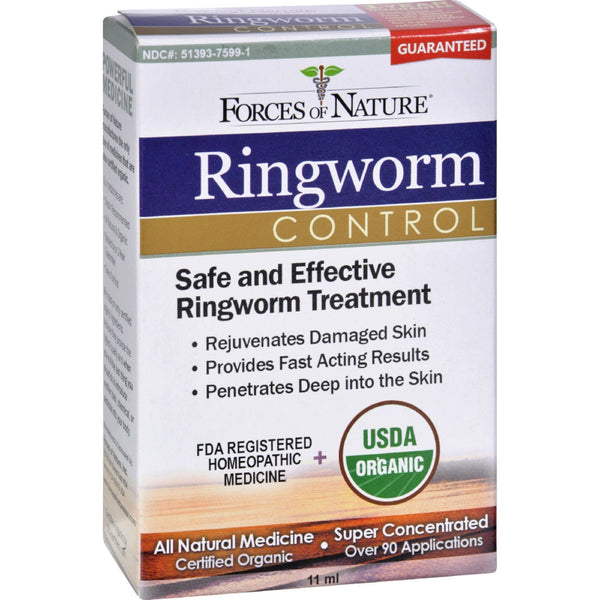 Forces of Nature Organic Ringworm Control - 11 ml -Medical- Allergy Free Me