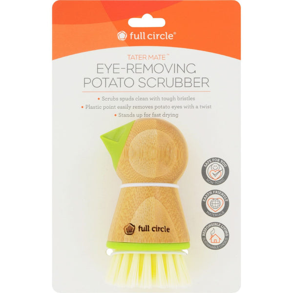 Full Circle Home Tater Mate Potato Brush with Eye Remover -Scrubbers and Sponges- Allergy Free Me