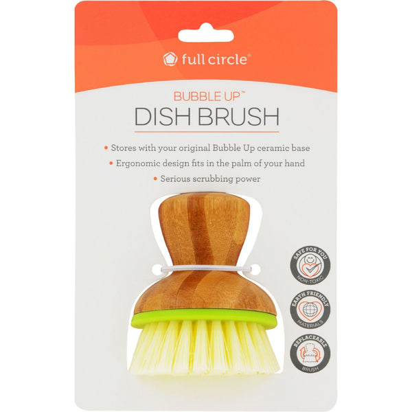 Full Circle Home Replacement Brush - Bubble Up Green - 6 ct -Dishwashing- Allergy Free Me