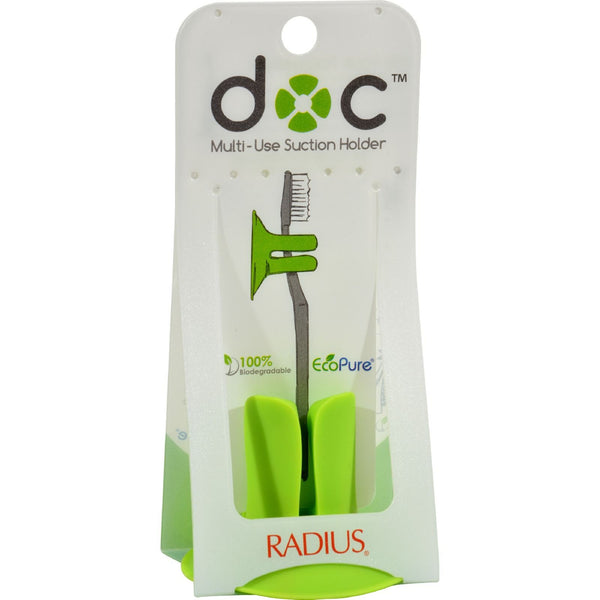 Radius Toothbrush Holder - The Doc - Multi-Use Suction Holder - 4 Count -Oral Care- Allergy Free Me - 1