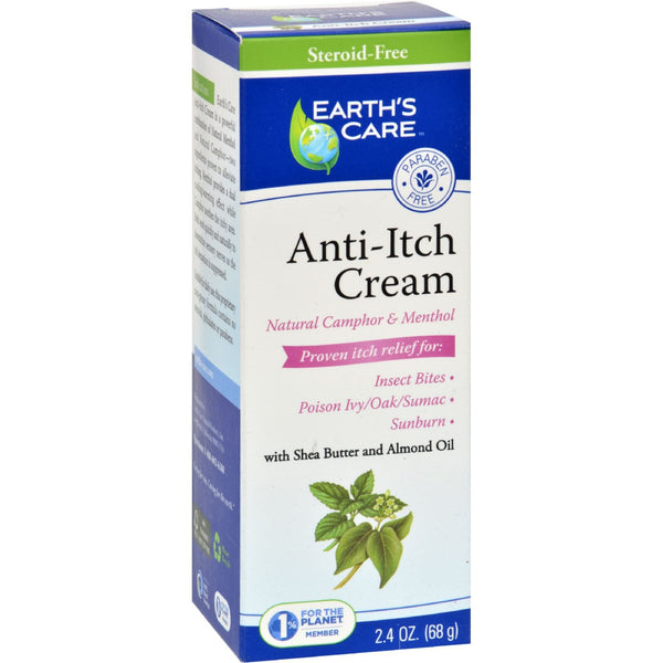 Earth's Care Anti-Itch Cream - 2.4 oz -Medical- Allergy Free Me