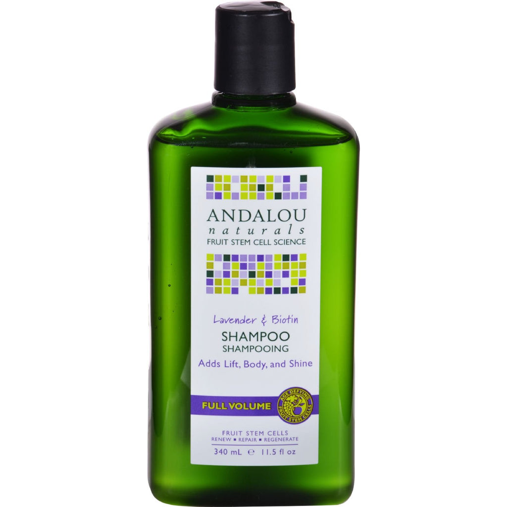 Andalou Naturals Full Volume Shampoo Lavender and Biotin - 11.5 fl oz - {shop_name}