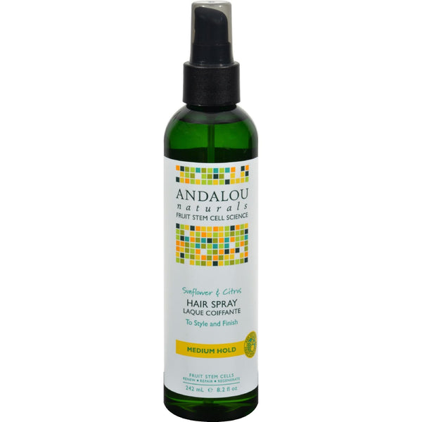 Andalou Naturals Perfect Hold Hair Spray Sunflower and Citrus - 8.2 fl oz - {shop_name}