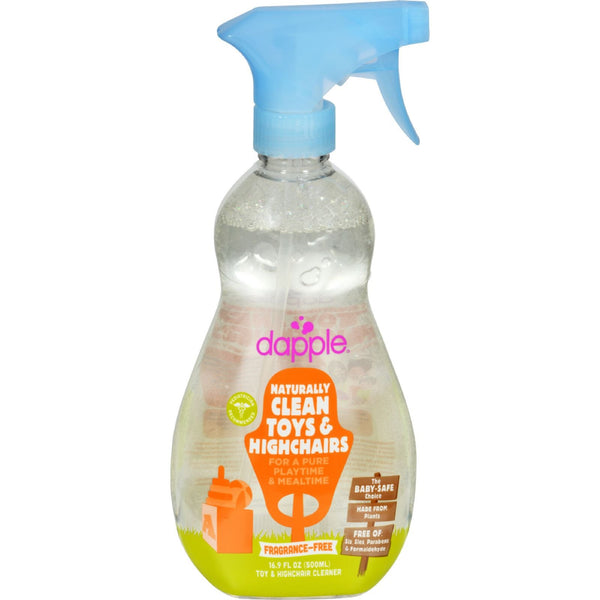Dapple Toy and High Chair Cleaner - Fragrance Free - 16.9 fl oz -Nursery Cleaning- Allergy Free Me