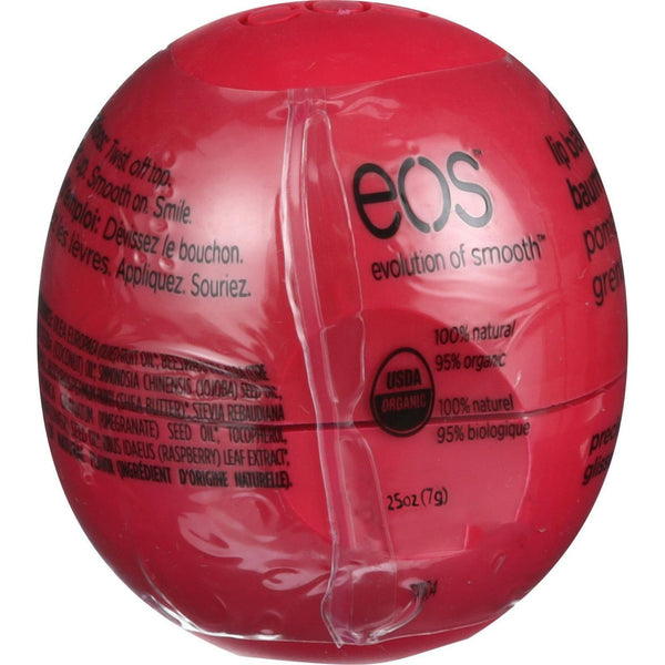 Eos Products Lip Balm - Smooth Sphere - Organic - Pomegranate Raspberry - .25 oz - Case of 8 -Lip Balm- Allergy Free Me