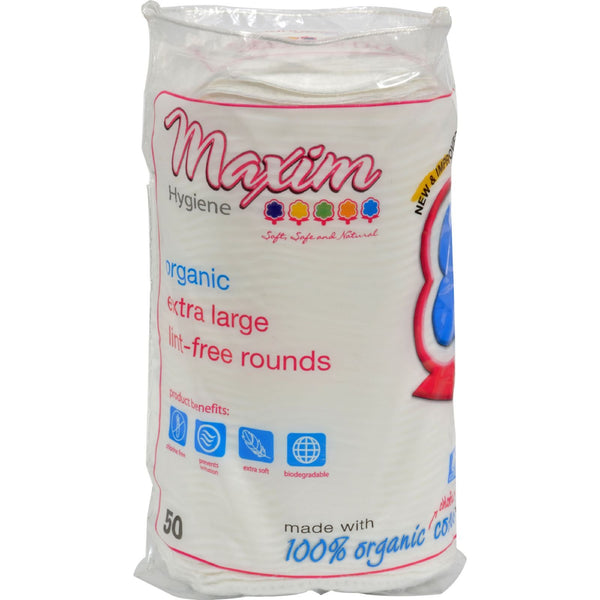 Maxim Hygiene Products Organic Cotton Rounds - Extra Large - 50 ct - {shop_name}