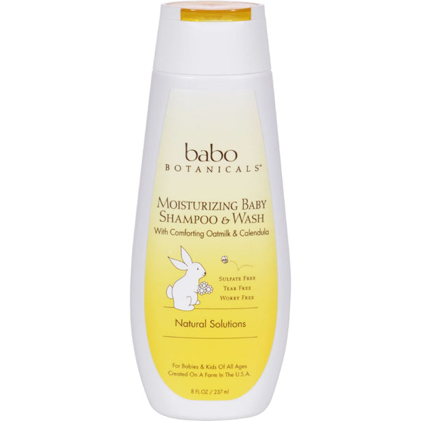 Babo Botanicals Moisturizing Baby Shampoo and Wash - Oatmilk Calendula - 8 fl oz - {shop_name}
